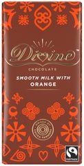 DIVINE Divine mléčná čokoláda s příchutí pomeranče, 26 % kakaa, 90g