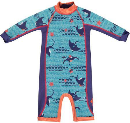 Pop-in otroški poletni pajac Manta Ray, M, modra