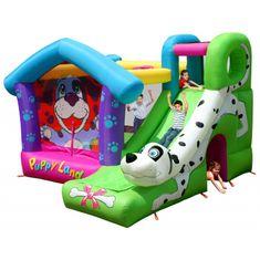 Happy Hop Puppy Land Pejsek skákací hrad se skluzavkou
