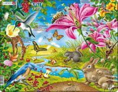 LARSEN Puzzle Květiny a včelky 55 dílků