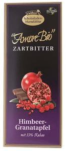 Liebhart´s Čokoláda hořká s malinami a granátovým jablkem 100g Bio