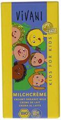 EcoFinia Vivani mléčná čokoláda s mléčnou náplní pro děti Bio 100 g