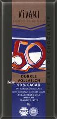 EcoFinia Vivani Edizione Grande čokoláda mléčná s kokosovým cukrem Bio 80 g