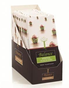 Klingele Chocolade BALANCE čokoláda mléčná s lískovými oříšky se stévií 85g