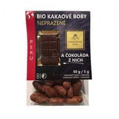 Chocolate Hill Kakaové boby nepražené + čokoláda Peru 55 g Bio