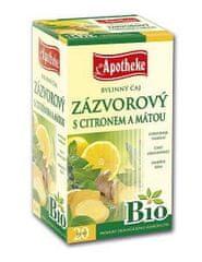 Mediate APOTHEKE Bio zázvor a citron a máta čaj n.s. 20x1,5g