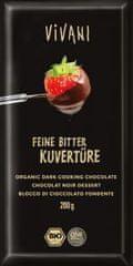 EcoFinia Vivani čokoláda na vaření hořká 200g Bio