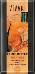 EcoFinia Vivani hořká čokoláda 70 % pomerančová Bio 100 g