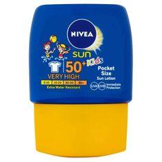 Nivea Pocket Size losjon za sončenje za otroke SPF 50, 50 ml