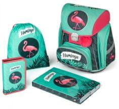 Karton P+P šolski komplet Premium Flamingo