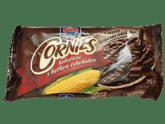 RACIO Cornies kukuřičné chlebíčky polomáčené s pravou hořkou belg.čokoládou 55% 20ks