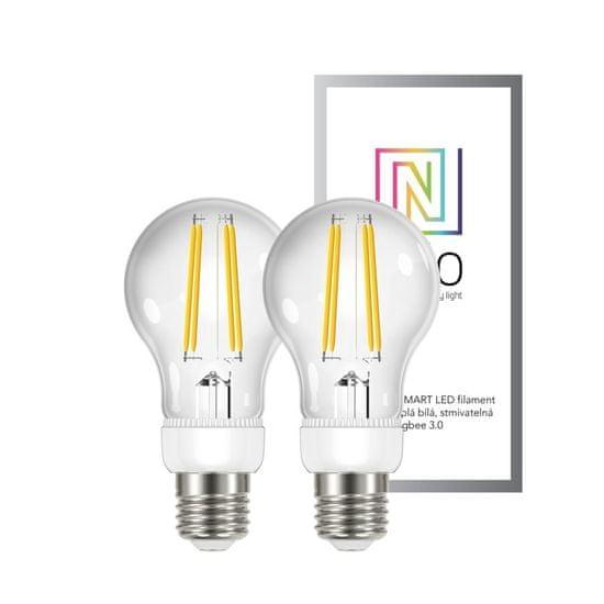 Immax NEO Smart sada žárovek filament LED 2x E27 6,3W, teplá bílá, stmívatelná, Zigbee 3.0