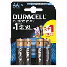 Duracell Turbo Max AA baterija, 3+1 komada