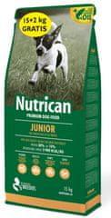 Nutrican Junior hrana za pasje mladiče, za male in srednje pasme, 15 kg + 2 kg