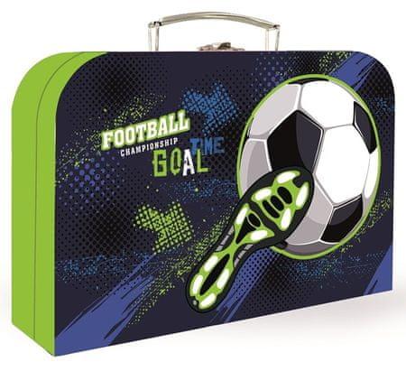 Karton P+P otroški kovček Fotbal, 34 cm