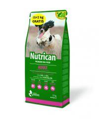 Nutrican Adult hrana za odrasle pse, za male in srednje pasme, 15 kg + 2 kg
