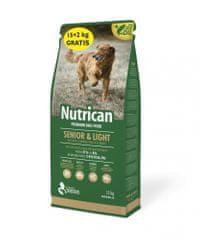 Nutrican Senior & Light hrana za starejše in prekomerno težke pse, 15 kg + 2 kg