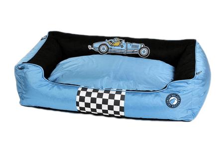 KIWI WALKER krevet za psa Racing Bugatti, ortopedski dizajn, L, plavi