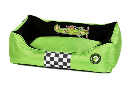 KIWI WALKER Racing Aero postelja z ortopedsko peno, XXL, zelena