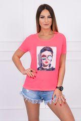 Kesi Mikina v barvě růžový neon