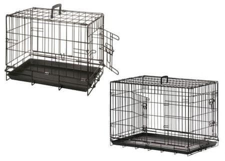 Karlie klatka druciana dla zwierząt, czarna, jedno wejście 47x30x37 cm