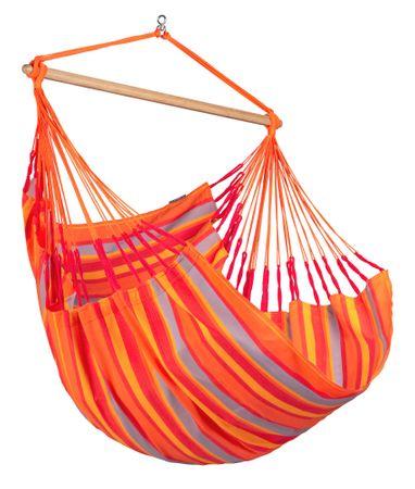 La Siesta Domingo Comfort viseči stol, oranžno-rdeč