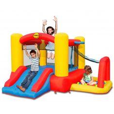 Happy Hop Skákací hrad Dětské play centrum Fantazie 4 v 1 s míčky