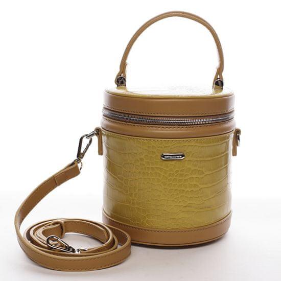 David Jones Designová menší koženková kabelka Smiley, žlutá