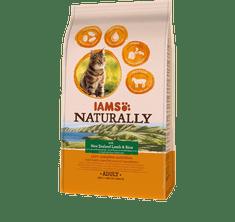 IAMS Naturally hrana za odrasle mačke, z novozelandsko jagnjetino in rižem, 2,7 kg