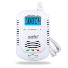 Safe Home Kombinovaný detektor CO, horľavých a výbušných plynov SAFE-808 COM (zemný plyn)
