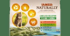 IAMS Naturally Kopno& Morje hrana za odrasle mačke, v omaki, 12 x 85 g
