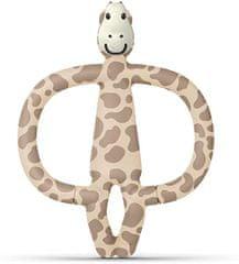 Matchstick Monkey Zofi Žirafa igrača za grizenje, z masažno zobno ščetko