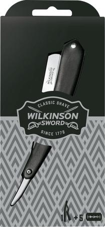 Wilkinson CLASSIC 5s Blades Vintage + Cut Throat borotva + 5 db zsilettpenge