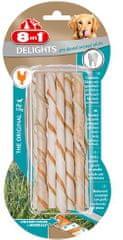 8in1 Delights Dental Twisted pleteni štapići, 10 komada