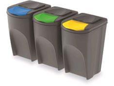 M.A.T Group kosze do segregowania odpadów 3 x 35 l SE
