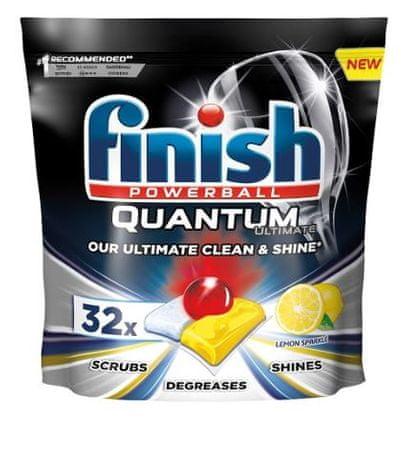 Finish Quantum Ultimate Lemon Sparkle - mosogatógép kapszula 32 db