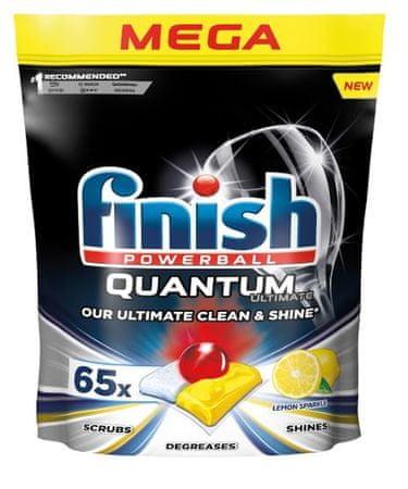 Finish kapsule za pomivalni stroj Quantum Ultimate Lemon Sparkle, 65 kosov