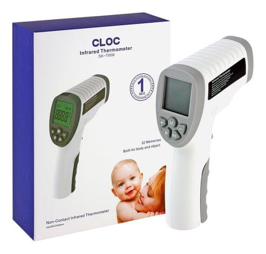 CLOC SK-T008 Profesionálny bezkontaktný čelový infra teplomer