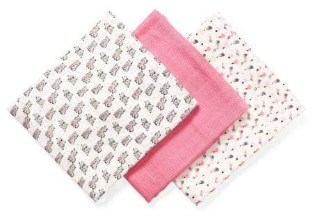 BabyOno bambusove pelene, 3 komada, ružičaste