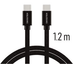 SWISSTEN DATA CABLE USB-C / USB-C TEXTILE 1,2M BLACK (71527201)