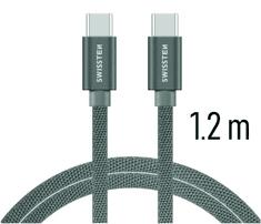 SWISSTEN DATA CABLE USB-C / USB-C TEXTILE 1,2M GREY (71527202)
