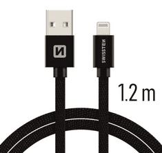 SWISSTEN DATA CABLE USB / LIGHTNING TEXTILE 1,2M BLACK (71523201)