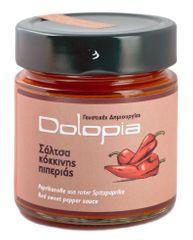 Dolopia Omáčka z červených florina paprik s česnekem 250g DOLOPIA