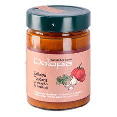 Dolopia Rajčatová omáčka s česnekem a bazalkou 350g DOLOPIA