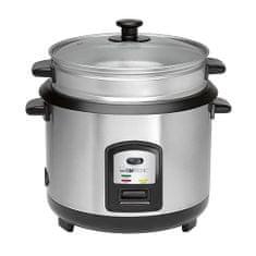 Clatronic RK 3567 kuchenka do ryżu ze stali nierdzewnej, przystawka do gotowania na parze 7, RK 3567 kuchenka do ryżu ze stali nierdzewnej, przystawka do gotowania na parze 7