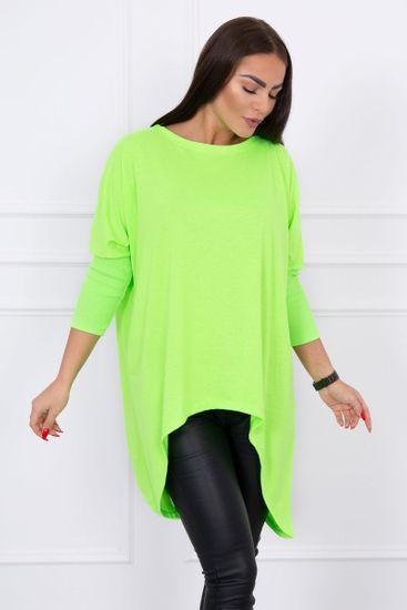 Kesi Tričko oversized, neonově zelená, velikost Universal