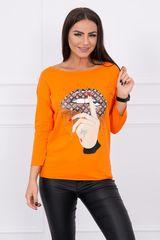 Kesi Tričko s barevným potiskem, oranžová
