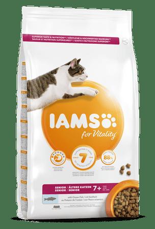 IAMS Vitality za starejše mačke, z oceansko ribo, 3 kg