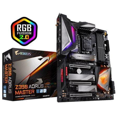 Gigabyte Z390 AORUS MASTER, DDR4, USB 3.1 Gen 2, Wi-Fi, ATX osnovna plošča