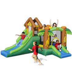 Happy Hop Klokánkův dům, nafukovací skákací hrad s fukarem a barevnými míčky